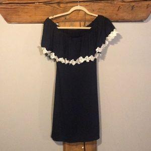 Dresses & Skirts - Navy off the shoulder dress